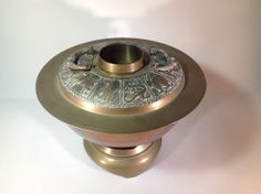 Vintage Brass Mongolian Hot Pot With Chinese Horoscope on Top