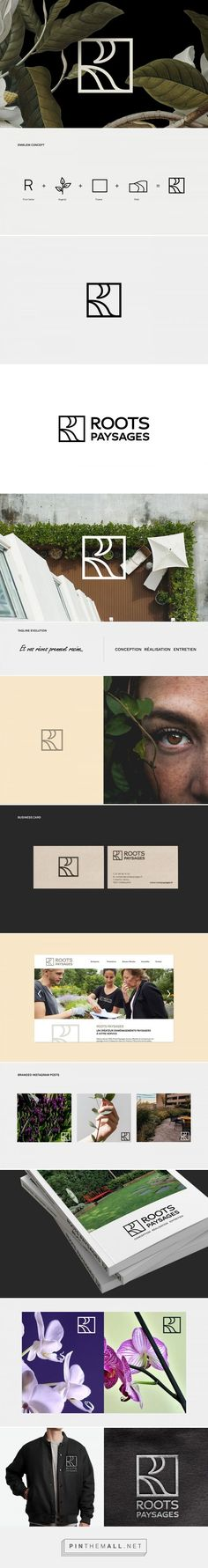 Roots Paysages brand design created by Grapheine