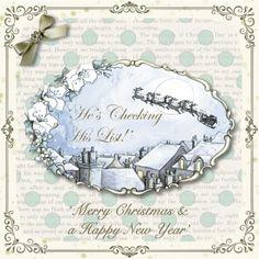 Christmas Card made using Serif Craft Artist and Hearts and Roses-Christmas digikit