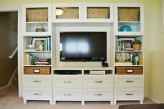 Dwelling Cents: Entertainment System (& Basement Updates) - Ikea Besta would this work in my living room? Entertainment System, Entertainment Center Decor, Decoration Ikea, Tv Decor, Playroom Decor, Decorations, Design Furniture, Furniture Redo, Wedge Sandals