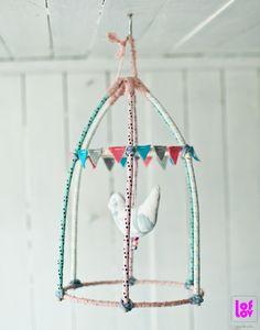 Fabric birdcage www.etsy.com/shop/loflov