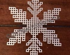 Snowflake Plastic Canvas Cut Outs Plastic by CoffeeChickCrafts