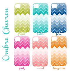 Ombre Chevron IPhone Cover