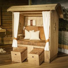 Amazing chalet design to your winter chalet. Outdoor Wood Furniture, Pallet Furniture, Furniture Plans, Outdoor Spaces, Outdoor Living, Outdoor Decor, Bamboo House Design, Chalet Design, Beach Chairs