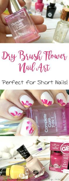 Gotta try this quick and easy nail art tutorial soon! It's a neat twist on using dry brushing! #SallyStrong AD