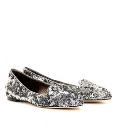 Sequin Slipperstyle Loafers - Lyst
