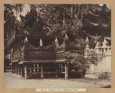 Burma, now Myanmar - 'Amerapoora: Corner of Mygabhoodee-tee Kyoung' 1 September - 21 October 1855 © The Metropolitan Museum of Art. Find our more www.vam.ac.uk/linnaeustripe