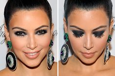 2018 Makeup Smokey Eyes for brown eyes Smokey Eyes, Smokey Eye For Brown Eyes, Kim Kardashian, Gray Eyes, Beauty Full, Septum Ring, Cool Style, Hair Beauty, Make Up