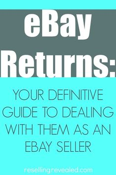 Your Definitive Guide To Dealing with eBay Returns!  Returns can be one of the scariest things that a new seller can deal with.  Once you figure out what to sell on eBay, pack it, and get it shipped out, there is a possibility that the seller want to return it.  Is it an honest return?  Is it an eBay scam?  Find out how to protect yourself and handle returns like a champ!  ResellingRevealed  #ebayblog #bololist #ebayreturns #howtomakemoneyonebay