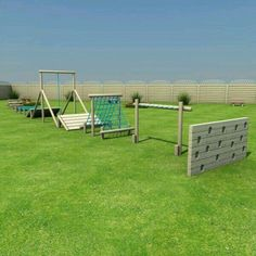 37 Exciting Small Backyard Playground Landscaping Ideas - Page 17 of 39 Kids Backyard Playground, Backyard For Kids, Backyard Projects, Playground Ideas, Toddler Playground, Backyard Games, Playground Design, Diy Projects, Backyard Obstacle Course