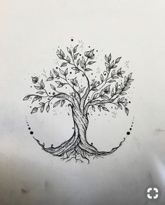 - Tree Tattoo - Gefällt 60 Mal, 3 Kommentare - Elisa Treg ॐ Tattoo ( Tree Tattoo - 60 Times, 3 Comments - Elisa Treg Tattoo ( o. Flower Tattoo Drawings, Small Flower Tattoos, Tattoo Sketches, Small Tattoos, Drawing Tattoos, Drawing Drawing, Drawing Tips, Tattoo Flowers, Flower Of Life Tattoo