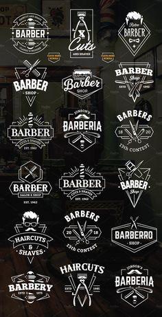 Ilyen szalonokhoz, a logónak is ütősnek kell lennie, hogy felfigyeljenek rá Barber Poster, Barber Logo, Barber Shop Interior, Barber Shop Decor, Shave Shop, Best Barber Shop, Mobile Barber, Hair Salon Names, Barber Tattoo