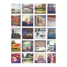 Custom Instagram Photo Collage Fleece Blanket
