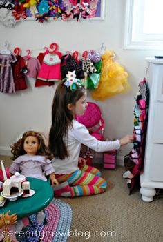 AG Storage | Tips for how to Organize & Display American Girl Doll Stuff, from Serenity Now