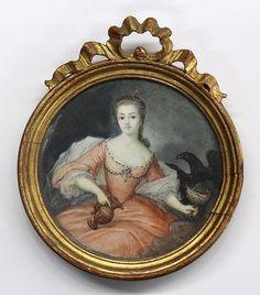 Miniature Portrait of Lady, French School : Lot 2346