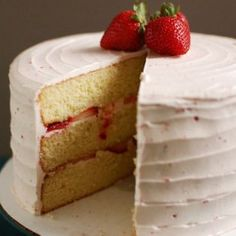 Strawberry Champagne Layer Cake - My Honeys Place