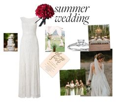 """Summer Wedding Gown"" by amgbenyon ❤ liked on Polyvore featuring Phase Eight and Blue Nile"