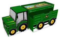 Everbright John Deere Tractor Desk/Toy Box /Storage Unit, Green