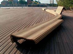 Find out all of the information about the CITY DESIGN product: public bench / contemporary / wooden / steel FLOW : 003100 . City Furniture, Bench Furniture, Urban Furniture, Street Furniture, Furniture Design, Landscape Elements, Urban Landscape, Landscape Architecture, Landscape Design