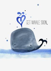 101 Get Well Soon Quotes, Sayings, Messages, Greetings & Images Sorry to hear you're feeling blue, I hope this card will get you through. Get Well Soon Funny, Get Well Soon Quotes, Get Well Soon Gifts, Funny Get Well Cards, Art Beat, Get Well Wishes, Greetings Images, Image Fun, Watercolor Cards