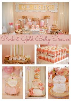Whimsical Pink and Gold Baby Shower - Pretty My Party