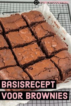Basisrecept brownie - FunkyFood by Niki Cuban Recipes, Dutch Recipes, Cake Recipes, Colombian Food, Delicious Deserts, Filipino Desserts, Sweet Desserts, High Tea, Bread Baking
