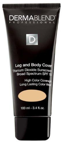 5e13f214629a1 Amazon.com : Dermablend Leg and Body Cover Make-Up SPF 15, Natural, 3.4  Ounce : Body Concealers Makeup : Beauty