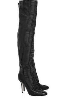 Jimmy Choo Leather Thigh Boots - Lyst