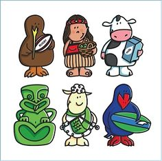 New Zealand Kiwiana illustrations Waitangi Day, Xmas Theme, New Zealand Art, Maori Art, Kiwiana, Christmas Activities, Rock Art, Painted Rocks, Baby Born