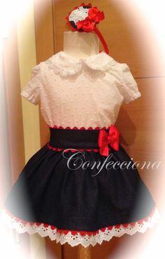 Conjunto de blusa y falda vaquera