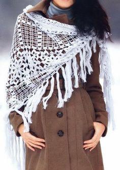 Crochet Shawls: Crochet Shawl Pattern - Beautiful Square Crochet Motif