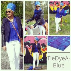 """Turban nr 3 from the Gosikh.com collections - tie dye blue  I have a soft spot for blue since the very beginning I started tying turban 30 years ago and I still love blue    Good news!!! To save 10% on your entire order, please use coupon code """"TURBANCHIQ"""", we will also donate another 10% to WFP, world food program.   Making this world a better place, one turban at a time ❤"""