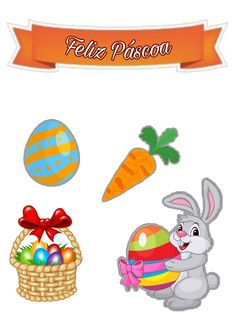 Segue A Gente Pra Receber Varios Toppers Grátis! Happy Easter Day, Easter Bunny, Custom Crates, Decorating Cakes, Model, Easter, Bracelet, Plants