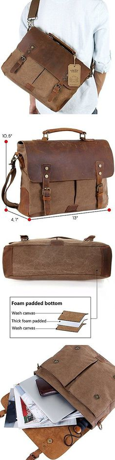 Other A V Media and Storage: Leather Messenger Bag - Suitable For High End Briefcase Products By Langforth -> BUY IT NOW ONLY: $48.95 on eBay!