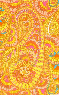 """""""Belle Epoch - Apricot"""" from the 'Spring collection Paisley Fabric, Paisley Pattern, Paisley Print, Textures Patterns, Fabric Patterns, Print Patterns, Fabric Design, Pattern Design, Belle Epoch"""