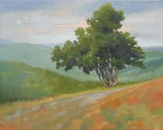 Tree Print featuring the painting Mountain Path by Todd Baxter