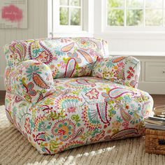 Warm Swirly Paisley Eco Lounger | PBteen