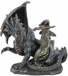 Dragon and Fairy Fantasy Art Sculpture Statue Figurine available at AllSculptures.com