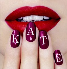 We love Kate #monogrammani Nail Art 2015, Monogram Nails, Nail Art Designs, Nail Art Photos, Best Gifts For Him, Nails Inc, Nail Art Galleries, Lip Art, Nails Magazine