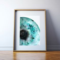 Iris Watercolor Print - Abstract Eye Art - Anatomy Art - Optometry and Ophthalmology Art - Teal Watercolor Art Print by LyonRoad on Etsy https://www.etsy.com/listing/250298900/iris-watercolor-print-abstract-eye-art