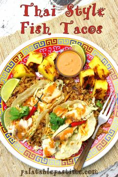 grilled fish tacos with roasted corn and pepitas thai style grilled ...