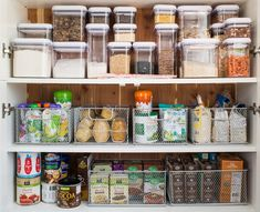 Those are TOP 10 containers to organize. The containers can help you to tidy up your kitchen area. Roulette, Rta Cabinets, Messy Kitchen, Pantry Organization, Pantry Ideas, Organized Pantry, Organizing Ideas, The Home Edit, Container Store