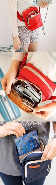Make sure to bring this cute and handy travel bag along on your travels! This bag is incredibly spacious for all your essential items during your trip. It includes numerous zippered pockets to store items like an iPad Mini, multiple card slots, with even more pockets to store a map, a guide book, and even a journal. The main compartment can also store a water bottle + more too. The entire bag can also be securely worn across your shoulder! This handy travel bag is available at…