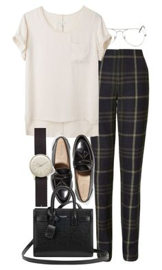 """Untitled #9101"" by nikka-phillips ❤ liked on Polyvore featuring Ray-Ban, Thakoon Addition, rag & bone, J.Crew, Yves Saint Laurent and MIANSAI"