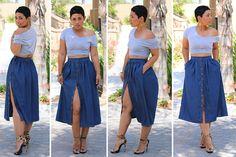 NEW! Perfect Denim Skirt TUTORIAL!!
