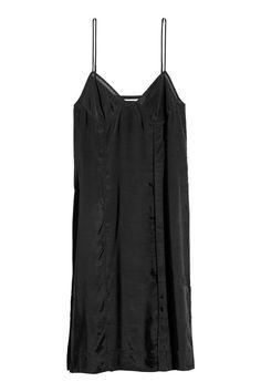 738fb4e61c505e Airy lyocell-blend dress - Black - Ladies   H&M 2 H&m Sale, H&m