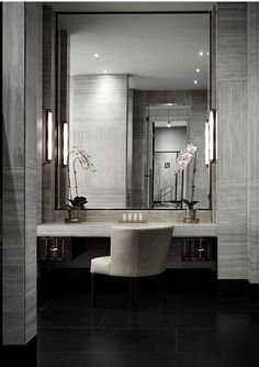 Searching for the best interior design firms in India? Casa Paradox has excellent online consultation on how you can design your home. Bathroom Interior, Bathroom Furniture, Modern Bathroom, Luxury Interior Design, Interior Architecture, Dressing Table Design, Dressing Area, Dressing Rooms, Big Bathrooms