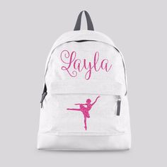 Personalised Kids Backpack - Any Name Cute Dance Ballet Girls School Bag   CBPBA f846ffd63857b