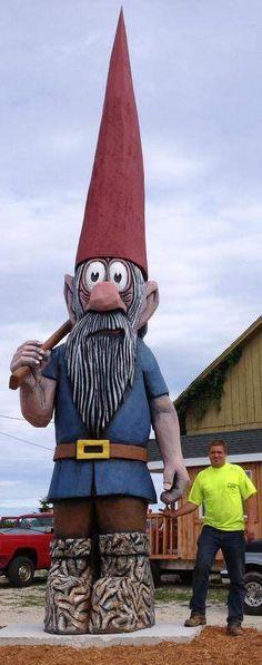 Sturgeon Bay: Gnome on the range West Jefferson, Door County Wisconsin, Sturgeon Bay, Summer Fun List, Cheese Curds, Usa Baby, Roadside Attractions, Bratwurst