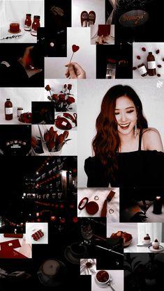 New ideas for wall paper iphone dark bts Red Aesthetic, Kpop Aesthetic, Korean Best Friends, Black Pink Kpop, Rose Park, Rose Wallpaper, Colorful Wallpaper, Park Chaeyoung, Blackpink Lisa